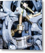 Scaffold Clamps Metal Print