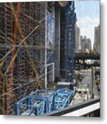 Scaffolding In The City Metal Print