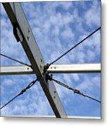 Scaffolding Sky View Metal Print