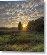 Scalloped Morning Skies Metal Print