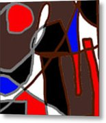 Scandal In Bohemia Original Abstract Expressionism Art Painting Metal Print