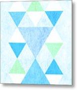 Scandi Blue Metal Print