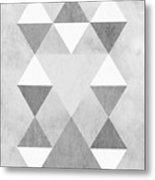 Scandi Grey Metal Print