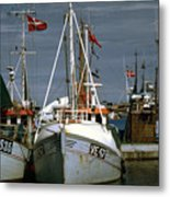 Scandinavian Fisher Boats Metal Print