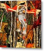 Scarecrow In Bellagio Conservtory In Las Vegas-nevada Metal Print