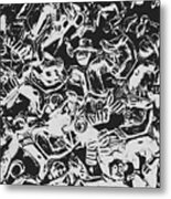 Scarecrows From All Hallows Way Metal Print