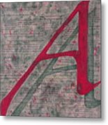 Scarlet Letter With Green Background Metal Print