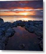 Scarlet Pools Metal Print