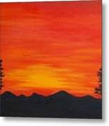 Scarlet Sunset  Sold Metal Print
