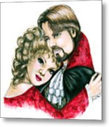 Scarlett And Nick Metal Print