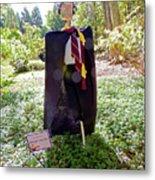 Scarry Potter Scarecrow At Cheekwood Botanical Gardens Metal Print