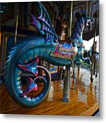 Scary Merry Go Round Boston Common Carousel Metal Print