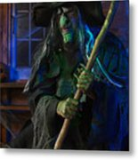 Scary Old Witch Metal Print