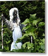 Scary Scarecrow Metal Print