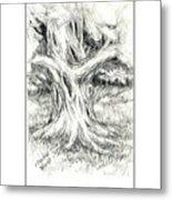 Scary Tree Metal Print
