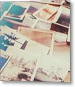Scattered Collage Of Old Film Photography Metal Print