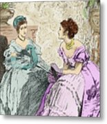 Scene From Anthony Trollope's Novel He Knew He Was Right Metal Print