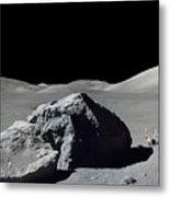 Scene From Apollo 17 Extravehicular Metal Print