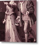 Scene From Much Ado About Nothing By William Shakespeare Metal Print