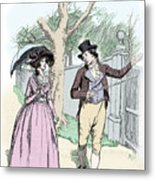 Scene From Sense And Sensibility By Jane Austen Metal Print