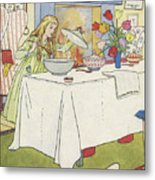 Scene From The Story Of Goldilocks And The Three Bears Metal Print