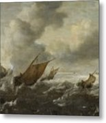 Scene With Stormy Seas Metal Print