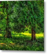 Scenes From An English Garden Metal Print