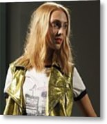 Scenes From The Catwalk Of London Fashion Week 2015  Metal Print