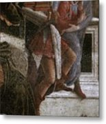 Scenes From The Life Of Moses Detail Alessandro Botticelli Metal Print