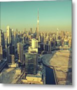 Scenic Aerial View Of Dubai Metal Print