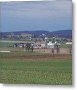 Scenic April Amish Vista Metal Print