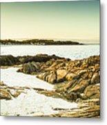 Scenic Coastal Dusk Metal Print