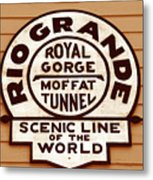 Scenic Line Of The World Metal Print
