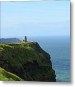 Scenic O'brien's Tower A Top The Cliff's Of Moher In Ireland Metal Print