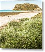 Scenic Stony Seashore Metal Print