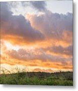 Scenic Sunset In Poipu, Kauai Island Metal Print