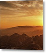 Scenic Sunset Over Hollywood Hills Metal Print