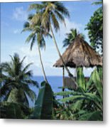 Scenic Thatched Hut Metal Print