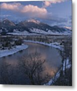 Scenic Twilight View Of The Yellowstone Metal Print