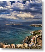 Scenic View Of Eastern Crete Metal Print