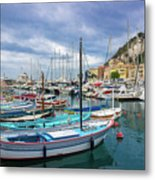 Scenic View Of Historical Marina In Nice, France Metal Print
