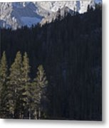 Scenic View Of Mount Abbot 13701 Ft Metal Print