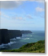 Scenic Views Of Ireland's Cliff's Of Moher In County Clare Metal Print