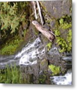 Scenic Water Fall Metal Print