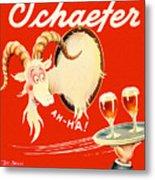 Schaefer Beer Vintage Ad Metal Print