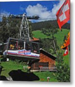Schilthorn Cable Car Murren Metal Print
