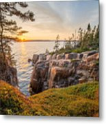 Schoodic Point Sunset Metal Print