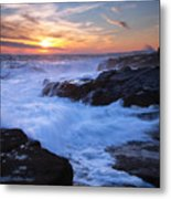 Schoodic Seas Metal Print by Patrick Downey