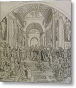 School Of Athens/ Homage To Raphael Metal Print