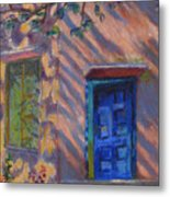 School Room Door Varanasi India Metal Print